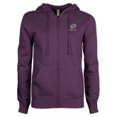 ENZA Ladies Purple Fleece Full Zip Hoodie-UO