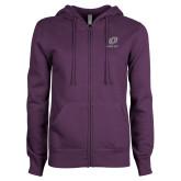 ENZA Ladies Purple Fleece Full Zip Hoodie-UO