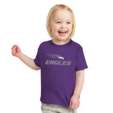 Toddler Purple T Shirt-Eagles with Head