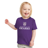 Toddler Purple T Shirt-Institutional Mark Stacked