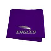 Purple Sweatshirt Blanket-Eagles with Head