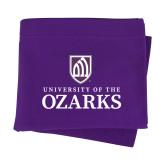 Purple Sweatshirt Blanket-Institutional Mark Stacked