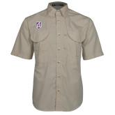 Khaki Short Sleeve Performance Fishing Shirt-Shield