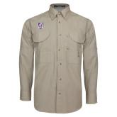Khaki Long Sleeve Performance Fishing Shirt-Shield