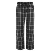 Black/Grey Flannel Pajama Pant-Eagles with Head