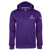 Under Armour Purple Performance Sweats Team Hoodie-Institutional Mark Stacked