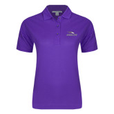 Ladies Easycare Purple Pique Polo-Eagles with Head