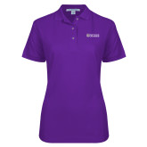 Ladies Easycare Purple Pique Polo-Primary Mark