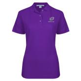 Ladies Easycare Purple Pique Polo-UO