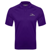 Purple Textured Saddle Shoulder Polo-Eagles with Head