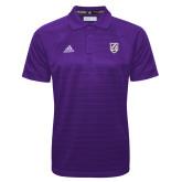 Adidas Climalite Purple Jacquard Select Polo-Shield
