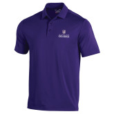 Under Armour Purple Performance Polo-Institutional Mark Stacked