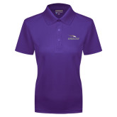 Ladies Purple Dry Mesh Polo-Eagles with Head