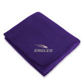 Purple Arctic Fleece Blanket-Eagles with Head
