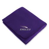 Purple Arctic Fleece Blanket-Eagles with Head