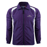 Colorblock Purple/White Wind Jacket-Eagles with Head