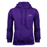 Purple Fleece Hoodie-Eagles with Head