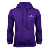 Purple Fleece Hoodie-Eagles with Head