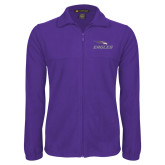 Fleece Full Zip Purple Jacket-Eagles with Head