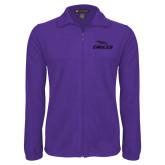 Fleece Full Zip Purple Jacket-Eagles with Head Tone
