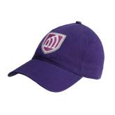 Purple Twill Unstructured Low Profile Hat-Shield