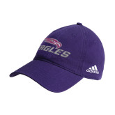 Adidas Purple Slouch Unstructured Low Profile Hat-Eagles with Head