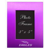 Purple Brushed Aluminum 3 x 5 Photo Frame-Eagles with Head