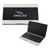 Bey Berk Carbon Fiber Business Card Holder-Eagles with Head