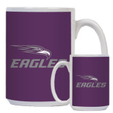 Full Color White Mug 15oz-Eagles with Head