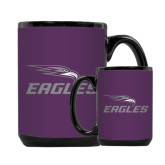 Full Color Black Mug 15oz-Eagles with Head