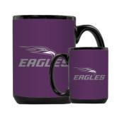 Full Color Black Mug 15oz-Eagles with Head
