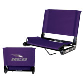 Stadium Chair Purple-Eagles with Head