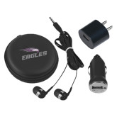 3 in 1 Black Audio Travel Kit-Eagles with Head