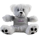 Plush Big Paw 8 1/2 inch White Bear w/Grey Shirt-Eagles with Head