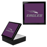 Ebony Black Accessory Box With 6 x 6 Tile-Eagles with Head