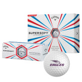 Callaway Supersoft Golf Balls 12/pkg-Eagles with Head