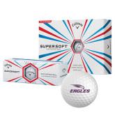 Callaway Supersoft Golf Balls 12/pkg-Eagles with Head