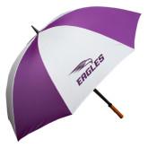 64 Inch Purple/White Umbrella-Eagles with Head