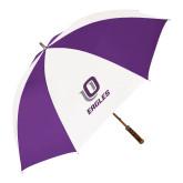 64 Inch Purple/White Umbrella-UO