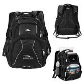 High Sierra Swerve Black Compu Backpack-Eagles with Head