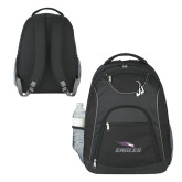 The Ultimate Black Computer Backpack-Eagles with Head