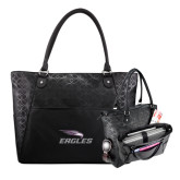 Sophia Checkpoint Friendly Black Compu Tote-Eagles with Head