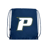 Navy Drawstring Backpack-P
