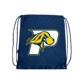Navy Drawstring Backpack-P w/T-Bone