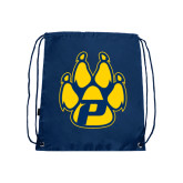 Navy Drawstring Backpack-Paw