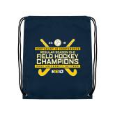 Navy Drawstring Backpack-2018 NE10 Field Hockey Champions