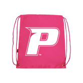 Pink Drawstring Backpack-P