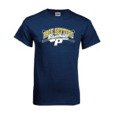 Navy T Shirt-Baseball Design