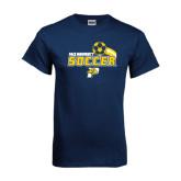 Navy T Shirt-Soccer Swoosh