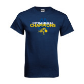Navy T Shirt-Intramural Champions